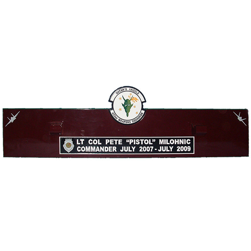 433WPS Satans Angel Gun Barrel Plaque