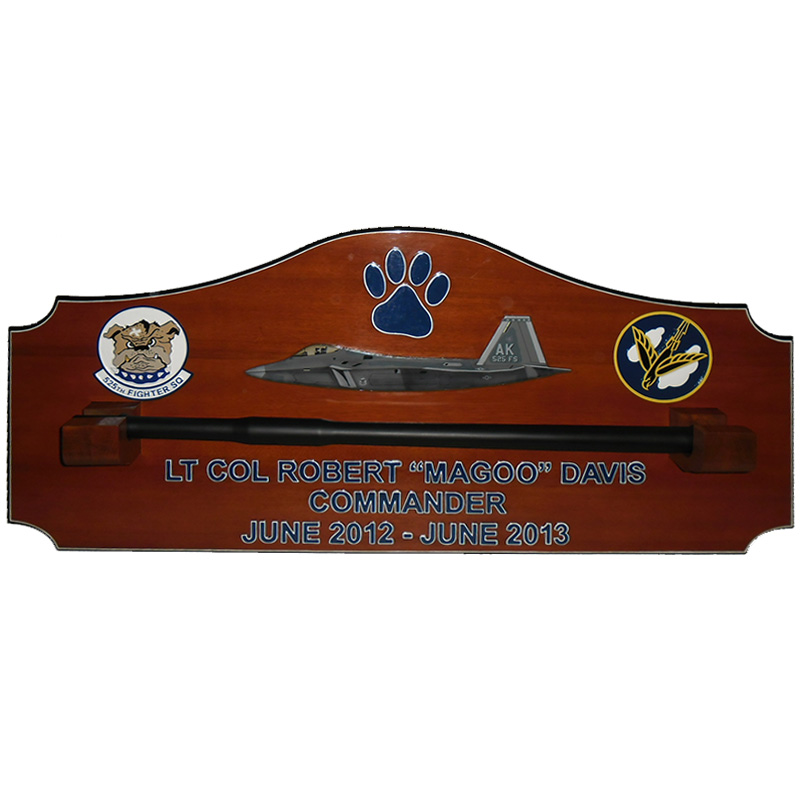 525FS Gun Barrel Plaque