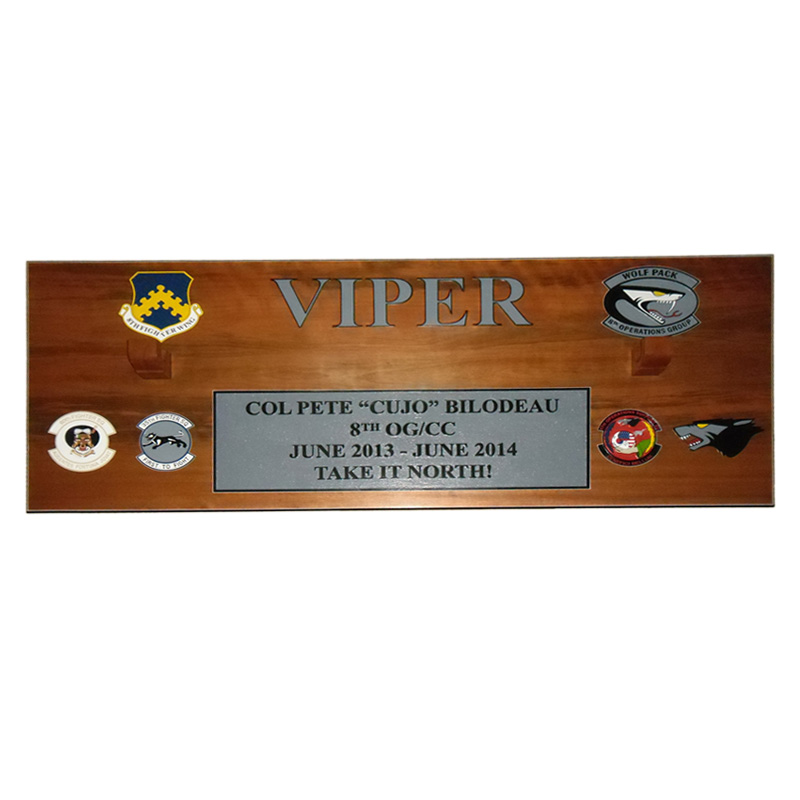 8 OG Viper Custom Gun Barrel Plaque