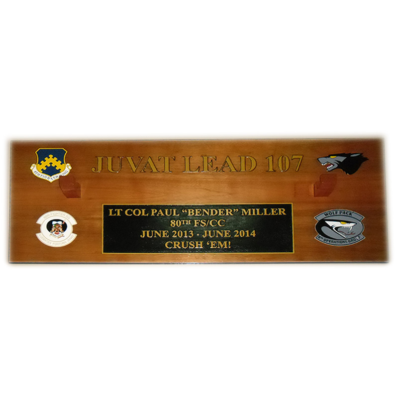 80FS Juvat Lead-107 Gun Barrel Plaque