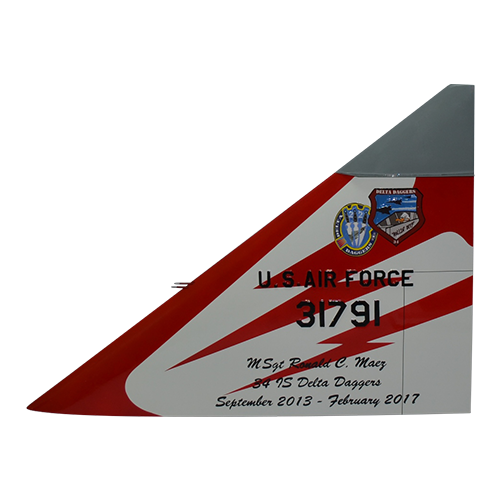 34 IS F-102A Delta Dagger Tail Flash