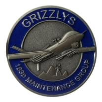 163D MG Grizzlys Challenge Coin
