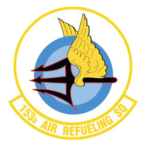 153 ARS KC-135 Airplane Tail Flash