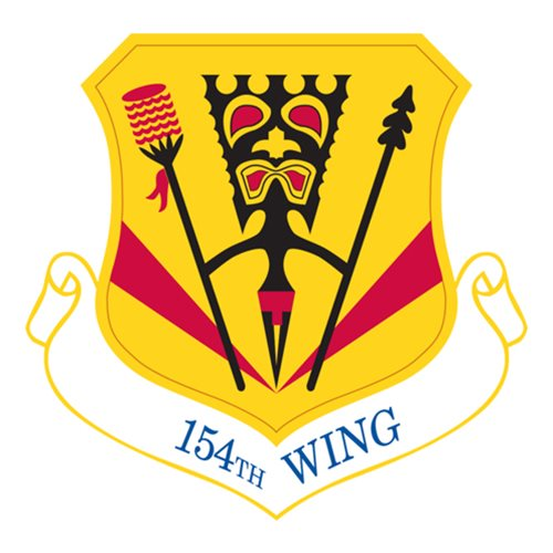 154 WG C-17 Airplane Tail Flash