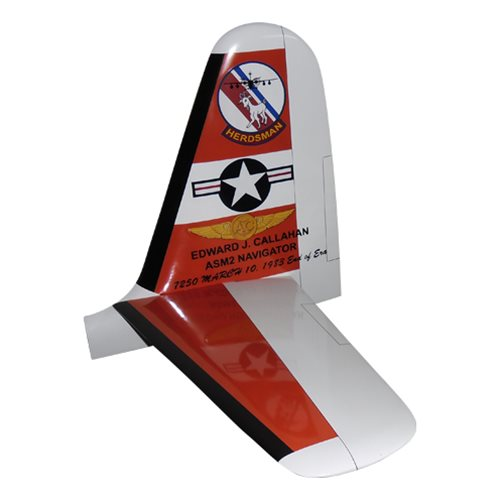 US Coast Guard HU-16 Airplane Tail Flash  - View 2