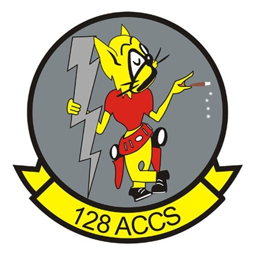128 ACCS E-8C JSTARS Custom Airplane Tail Flash