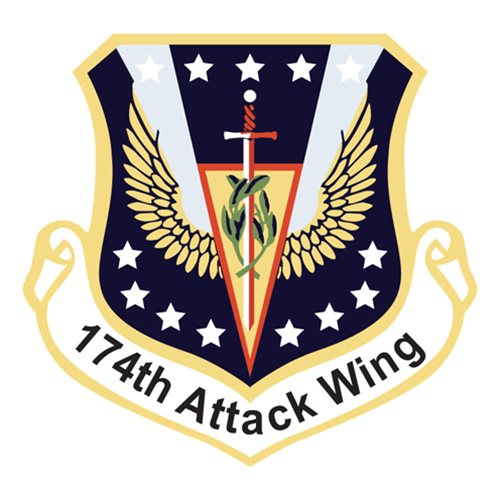 174 ATW MQ-9 Reaper Custom Airplane Tail Flash