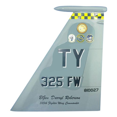 325 FW F-15 Airplane Tail Flash
