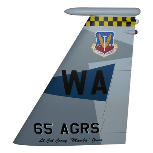 65 AGRS F-15C Eagle Custom Airplane Tail Flash - View 2