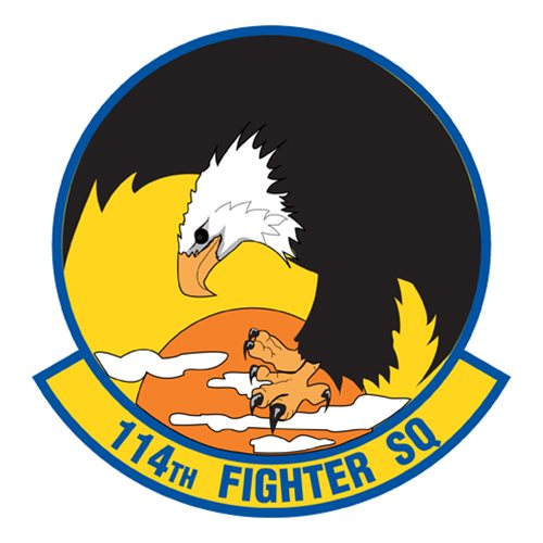 114 FS F-15C Eagle Custom Airplane Tail Flash