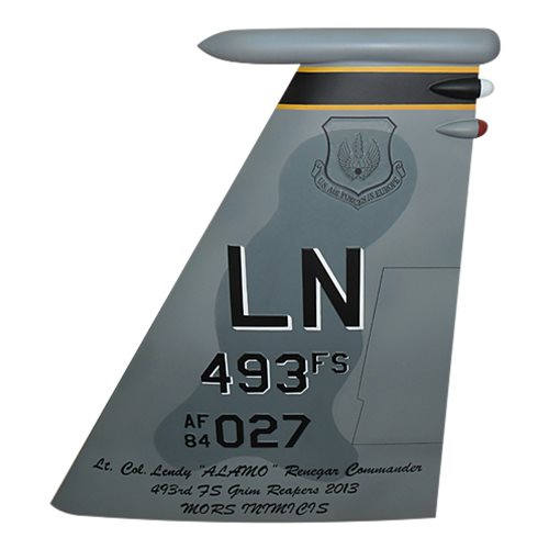 493 FS F-15C Eagle Custom Airplane Tail Flash - View 2