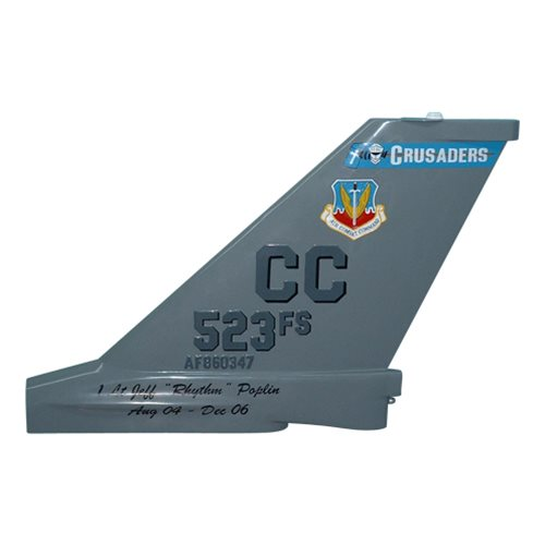 523 FS F-16C Falcon Custom Airplane Tail Flash