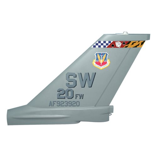 20 FW F-16C Falcon Custom Airplane Tail Flash