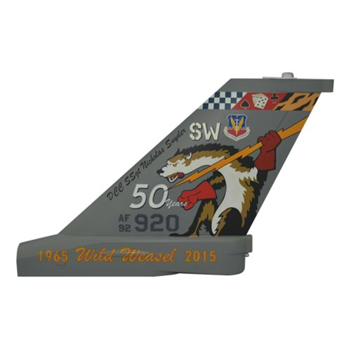 20 FW F-16C Falcon Custom Airplane Tail Flash - View 2