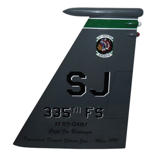 335 FS F-15E Strike Eagle Custom Airplane Tail Flash