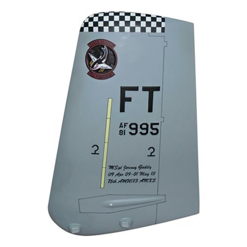 75 FS A-10 Airplane Tail Flash