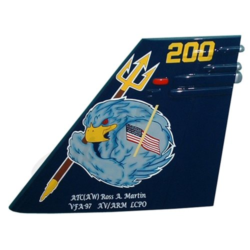 VFA-97 F/A-18 Airplane Tail Flash