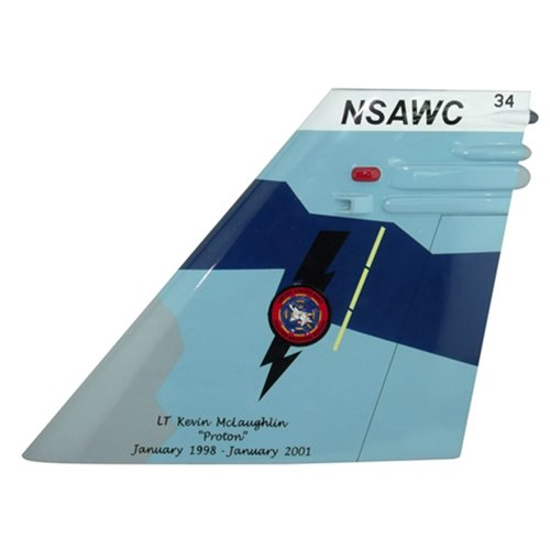 NSAWC F/A-18 Airplane Tail Flash