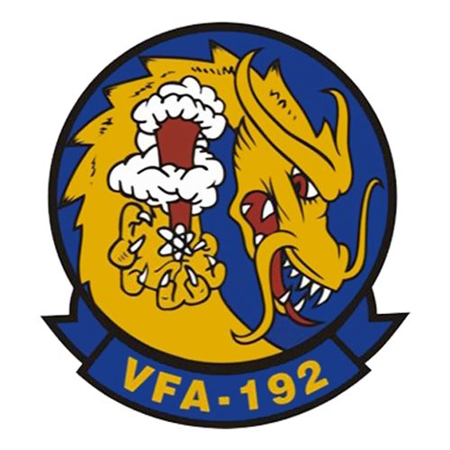 VFA-192 F/A-18 Airplane Tail Flash