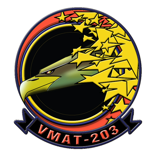 VMAT-203 AV-8B Airplane Tail Flash - View 2