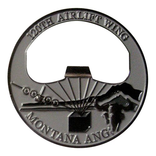 186 AS Bottle Opener Custom Air Force Challenge Coin - View 2