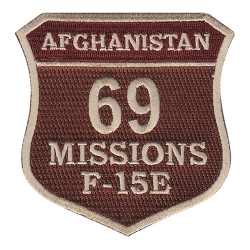 F-15E 69 Missions Patch