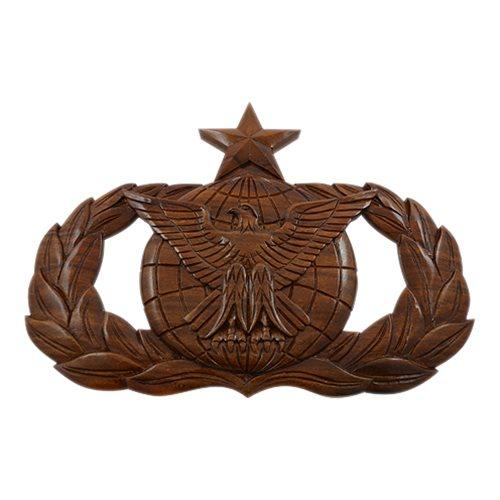 Usaf Senior Force Protection Badge Plaque Hand Carved