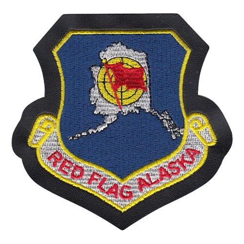 Red Flag Alaska Patch with Leather