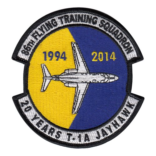 86 FTS T-1A Jayhawk 20 Year Anniversary Patch