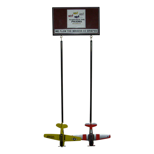 Custom Wall Rack with 2 briefing sticks  - View 2