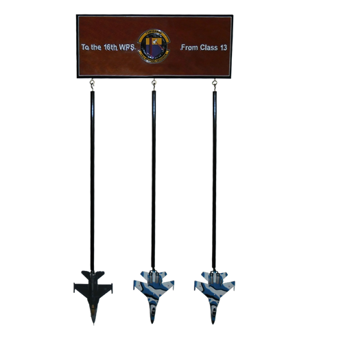 Custom Wall Rack with 3 Briefing Sticks - View 3