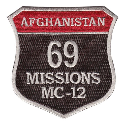 MC-12 69 Missions Patch
