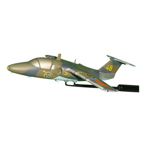 Swedish Air Force Saab 105 Airplane Model Briefing Stick