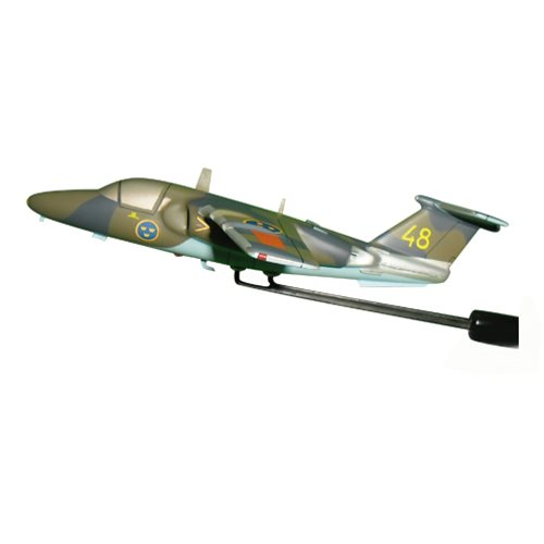 Swedish Air Force Saab 105 Airplane Model Briefing Stick - View 2
