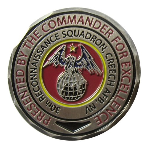 30 RS Commander Custom Air Force Challenge Coin