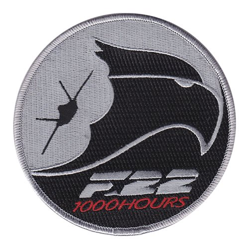 F-22 Raptor 1000 Hours Patch