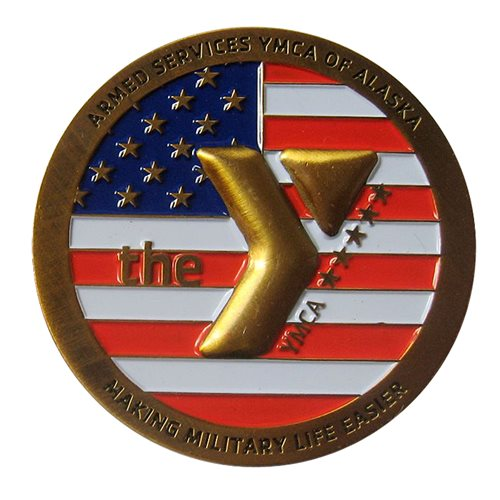 ASYMCA Alaska Military Salute 2015 Coin - View 2