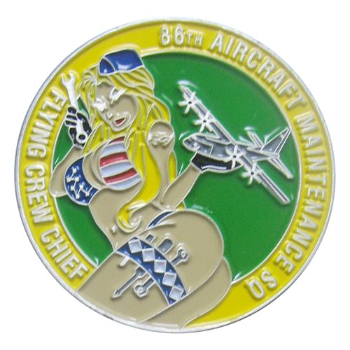 86 AMXS C-130 Flying Crew Chief Coin - View 2