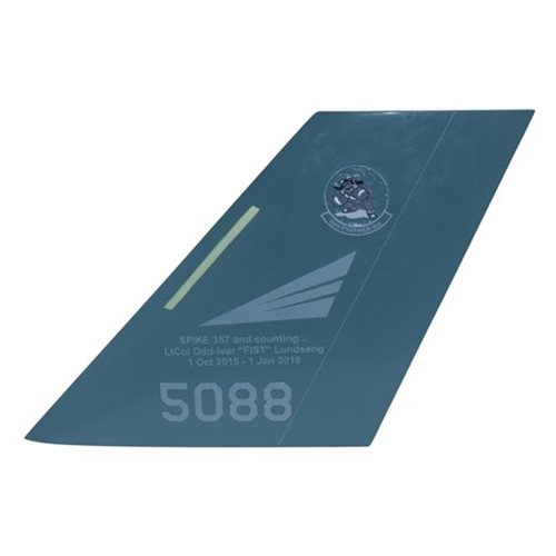 62 FS F-35 Airplane Tail Flash