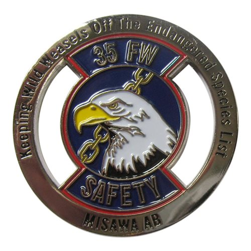 35 Fw Safety Coin 35th Fighter Wing