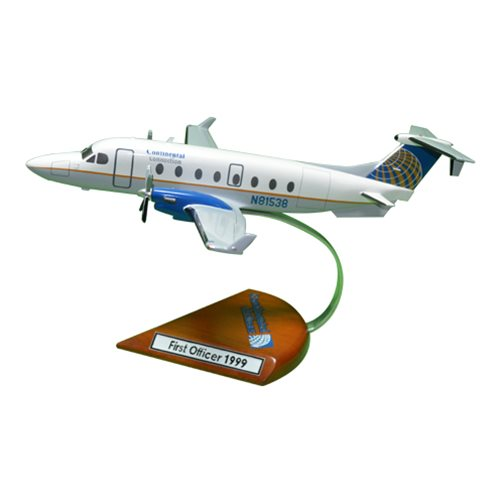 Continental Connection Beechcraft 1900D Custom Airplane Model  - View 2
