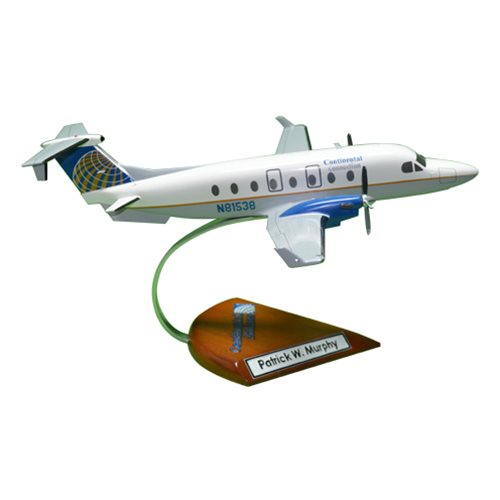 Continental Connection Beechcraft 1900D Custom Airplane Model  - View 4