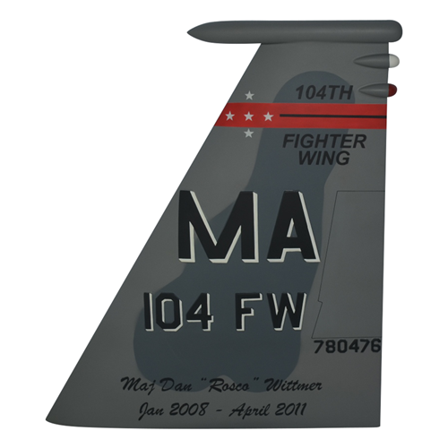 104 FW F-15C Eagle Custom Airplane Tail Flash