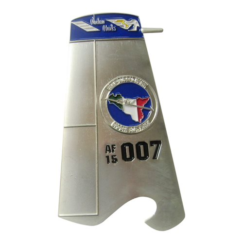 7 RS RQ-4 Global Hawk Tail Flash  Bottle Opener Challenge Coin - View 2