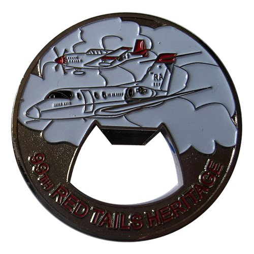 99 FTS Red Tails Heritage Bottle Opener Coin - View 2