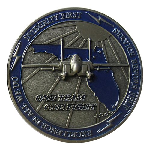 125 FW Commander Challenge Coin - View 2