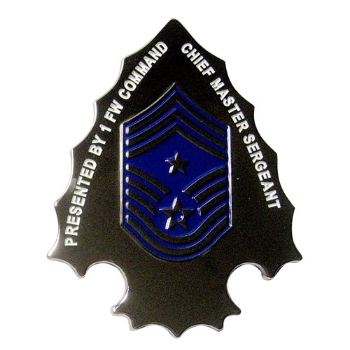1 FW Arrowhead Challenge Coin | 1st Fighter Wing