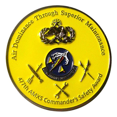 477 AMXS Safety Challenge Coin - View 2