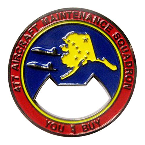 477 AMXS Challenge Coin  - View 2
