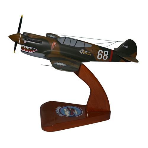 3rd Pursuit Squadron P-40 Warhawk Custom Airplane Model  - View 2